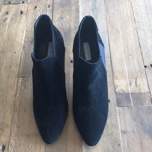 Cole Haan Pointed Toe Suede Booties